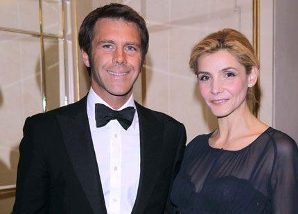 Emanuele Filiberto med maka på julgala i Milano