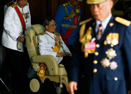 Thailands kung visade upp sig på sin 83-årsdag