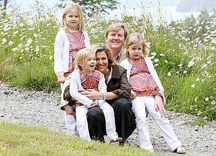 God Jul från holländska kronprinsfamiljen <br>i Argentina
