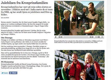 Julhälsning från Mette-Marit och Haakon