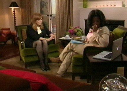 Oprah Winfrey ställer Sarah Ferguson mot väggen