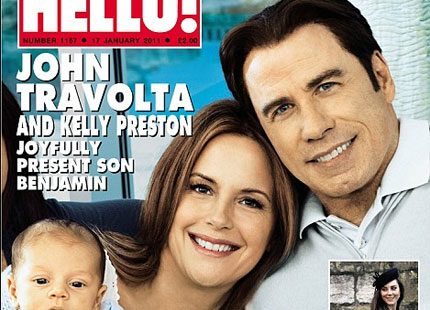John Travolta visar stolt upp sin son