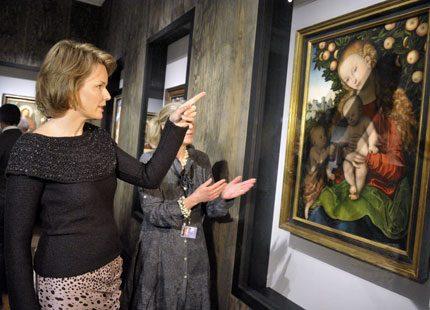 Kronprinsessan Mathilde kollade in konst