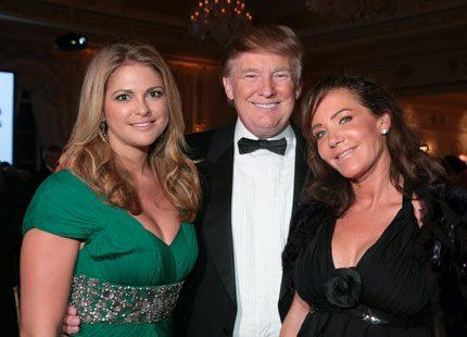 Prinsessan Madeleine på bal med Donald Trump