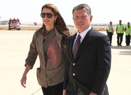 Drottning Rania besöker sjukhus och kung Abdullah sparkar regering