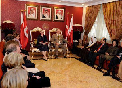 Fler bilder från drottning Margrethes spännande resa i Bahrain