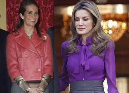 Letizia och Elena - två färgglada spanska prinsessor