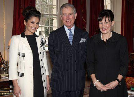 Prins Charles mötte popstjärnan Cheryl Cole