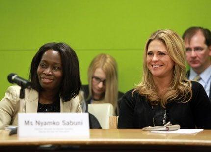 Prinsessan Madeleine och Nyamko Sabuni på plats i FN i New York