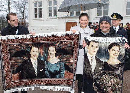 Daniel och Victoria fick makalösa mattor i Malmö...