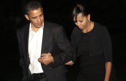 President Obama på kärlekshelg med fru Michelle