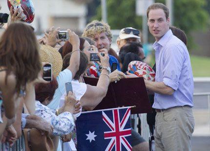 Prins William - nu besöker han Australien