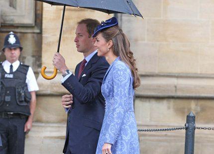 Prins William och Kate tillbaka i skolan