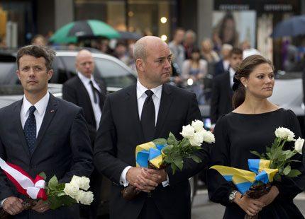 Victoria i svart vid minnesceremoni i Oslo