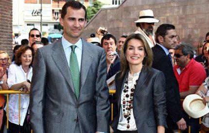 Kronprins Felipe på tjurfäktning med sin Letizia