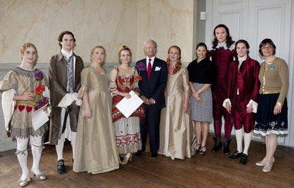 Plats på scen för Victoria och kungen