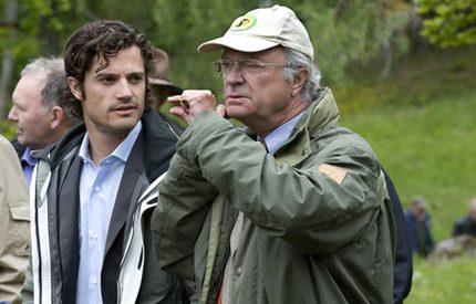 Prins Carl Philip besökte Stenhammar med sin pappa