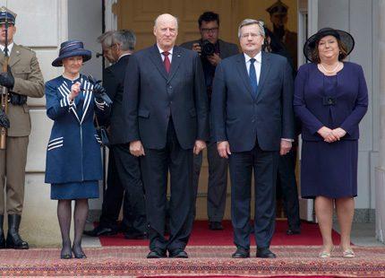 Norska kungaparet på besök i Polen