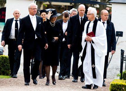 vit slips vid begravning