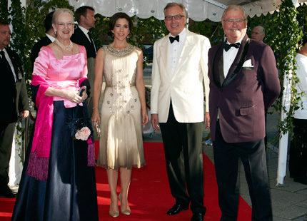 Danska kungligheter firade vännen Fritz Schur