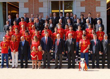 Kungligt firade av fotbollshjältarna
