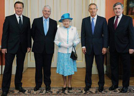 Fyra premiärministrar och en drottning...