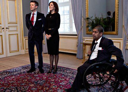 Mary och Frederik tog emot handikappidrottare