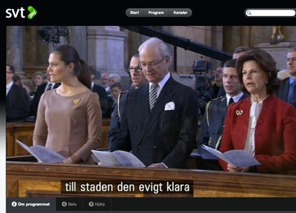 Victoria läste bön ur Estelles bönbok