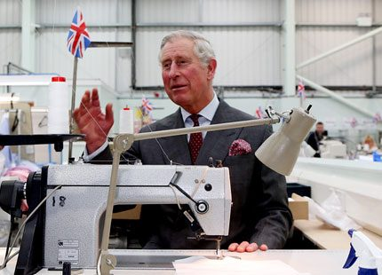Prins Charles på skräddarsydda uppdrag