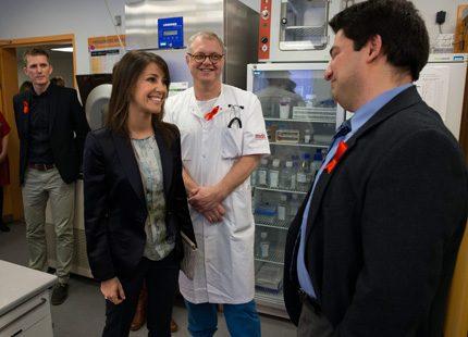 Prinsessan Marie besökte Aids-patienter