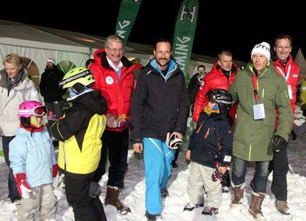 Haakon besökte VM i Oslo
