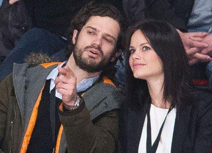 Carl Philip stöttade Sofia på gala i Borås