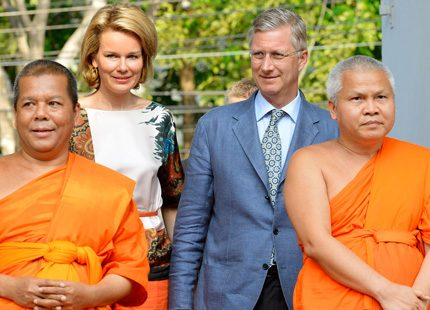 Mathilde och Philippe på resa i Thailand