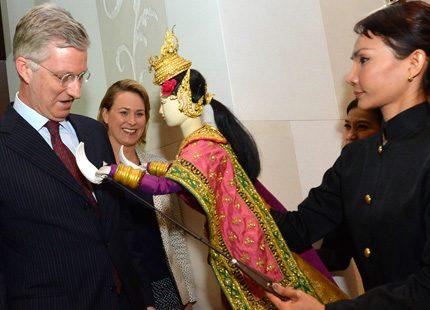 Mathilde och Philippe mötte affärsmän på slottet