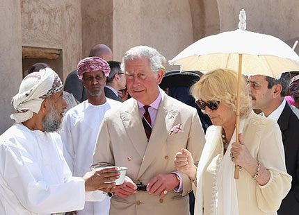 Camilla och Charles på rundtur i Mellanöstern