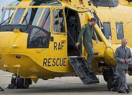 Prins William berättar i tv om hur det känns att rädda liv