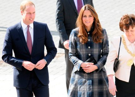 Kate och William nu i Glasgow