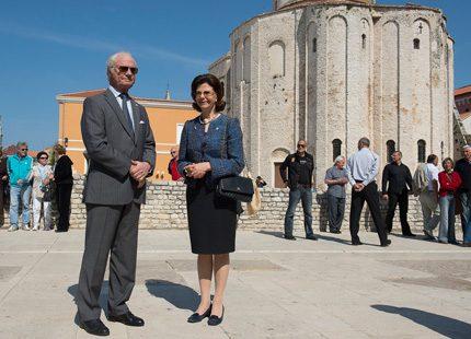 Dag tre i Kroatien - nu besöker kungaparet i Zadar