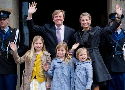 Nu anländer kronprinsfamiljen för att öva inför morgondagen