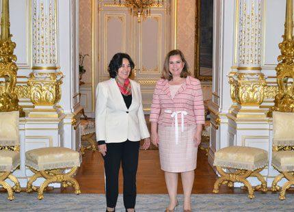 Storhertiginnan av Luxemburg träffade viktiga vänner
