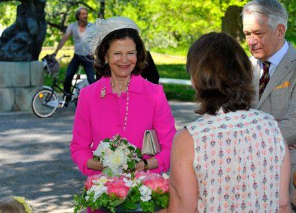 Drottning Silvia lyste på Waldemarsudde