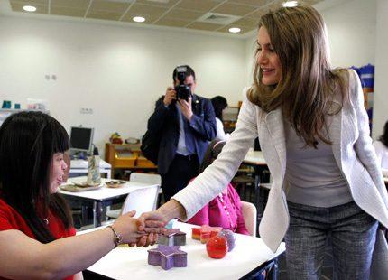 Ett möte i grått för kronprinsessan Letizia