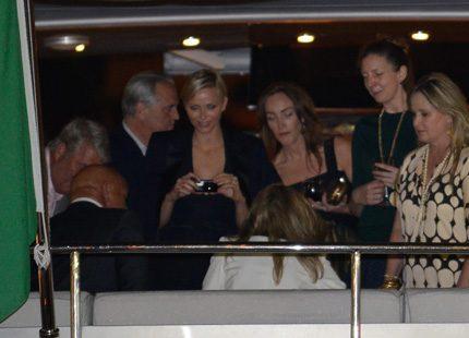 Även Charlene roade sig i Cannes