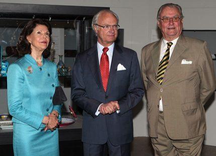 Kungaparet har invigt jubileumsutställningar