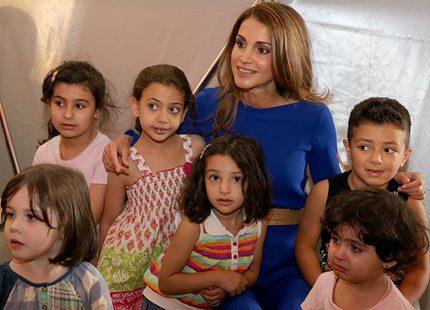 Drottning Rania av Jordanien är barnens favorit