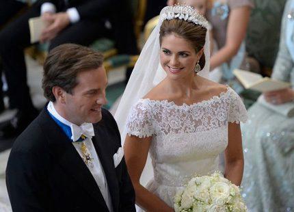 Madeleine strålade i sin Valentino-klänning och Chris fällde en tår