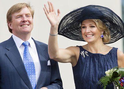 Marinblått för Maxima när hon och Willem Alexander besökte Limburg