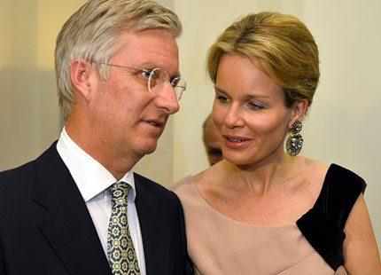Belgiska kungafamiljen minglade efter konsert