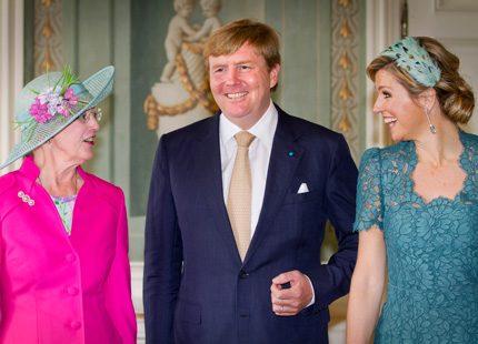 Margrethe tog emot Willem-Alexander och Máxima