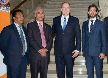 Carl Philip och Albert på möte i Monaco